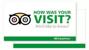 Trip Advisor review card sample